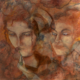 Giorgio Tuscani Artwork A Love That Will Not Fade, 2007 Acrylic Painting, Ethereal