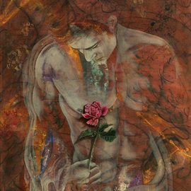 Giorgio Tuscani Artwork The Heart Finds Peace Through Love, 2007 Acrylic Painting, Ethereal