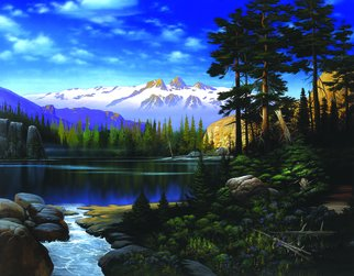 Steven Power: 'GODS COUNTRY', 2002 Giclee, Landscape.  ROCKY MTNS INSPRED...