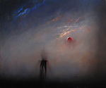 Artist: George Kofas, title: The Moon Turned to Blood, 2011, Painting Oil