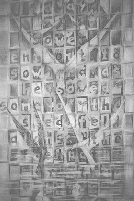 John Clark  'Millenium Window Drawing', created in 1999, Original Drawing Pencil.