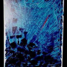 Grzegorz Luszczyk Artwork Composition, 1992 Acrylic Painting, Abstract
