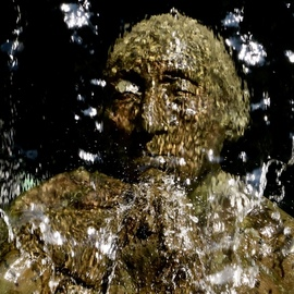 Glen Sweeney: 'veil of tears', 2018 Color Photograph, Ethereal. Artist Description: Hiding behind a veil of tears. Fountain statue in Berlin, Germany. ...