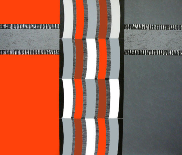 Rosemary Golcher Among Weaving Red, Gray And White 1 2008