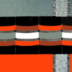 , Among Weaving Red, Gray A, Abstract, $3,150
