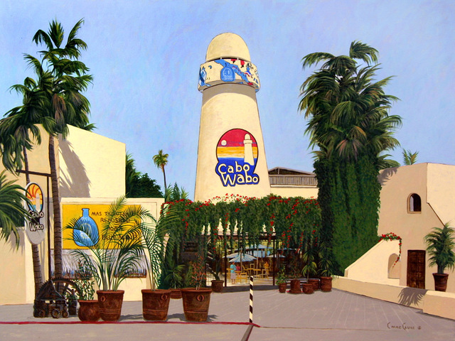 Chris Macclure  'Cabo Wabo Cantina', created in 2006, Original Painting Acrylic.
