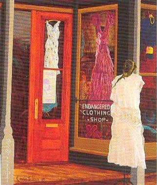 by Chris Macclure titled: endangeredclothingshop, 2001