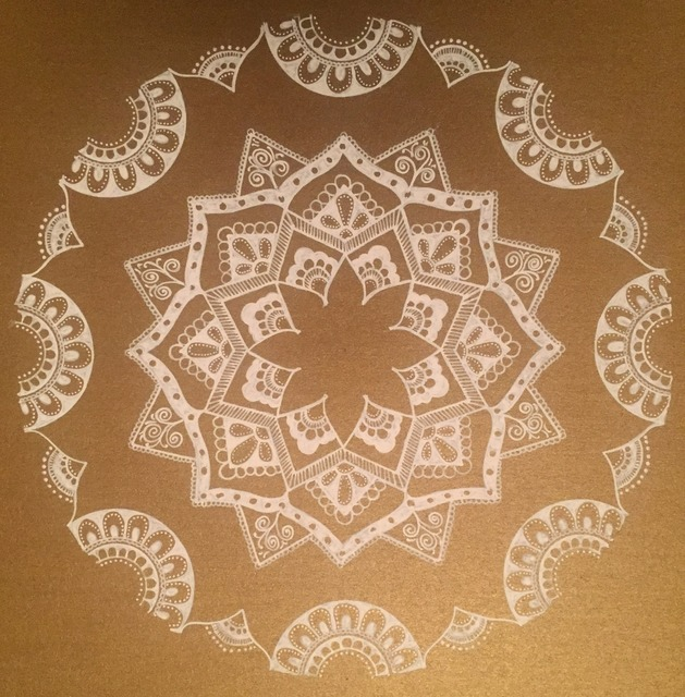 Rabina Byanjankar Shakya  'White Mandala', created in 2017, Original Painting Ink.