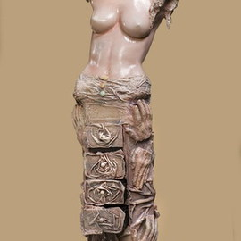 Lila Goldner: 'roza', 2004 Mixed Media Sculpture, Abstract Figurative.