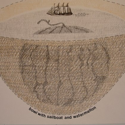 , Bowl With Sailboat And Wa, Humor, Sold