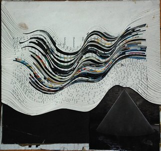 Goran Petmil: 'BLACK MOUNTAINS', 2011 Collage, Abstract. Artist Description:  BLACK MOUNTAINS - 12 X 12 - COLLAGE MADE OUT OF SLICING ART FORUM MAGAZINE - 2011    ...