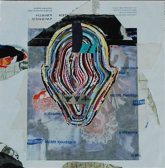 Goran Petmil: 'FACE', 2010 Collage, Abstract. Artist Description:  FACE - COLLAGE MADE OUT OF CUTTING ART FORUM MAGAZINE 10. 5 X 10. 5 - 2010/ 12 PORTRAIT  ...