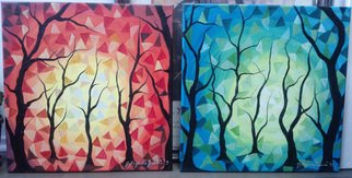 Artist: Gordana Pogledic Jancetic - Title: woods - Medium: Oil Painting - Year: 2013