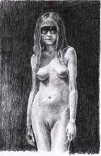 - artwork Maria_With_Glasses-1273168815.jpg - 2010, Drawing Pencil, Figurative
