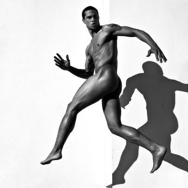 Gregory Prescott: 'Victor', 2009 Black and White Photograph, Figurative. Artist Description:  Male nude  ...