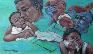 Grace Liberator: 'katrina and the Days that Followed 3', 2005 Oil Painting, Peace.  Katrina and The Days That Followed 1.  These will not be for sale until 2008.  Presently they are a part of an exhibition of 50 artworks.   I was compelled to paint these three painting in October 2005 after Katrina and what happened to those citizens of New Orleans. ...