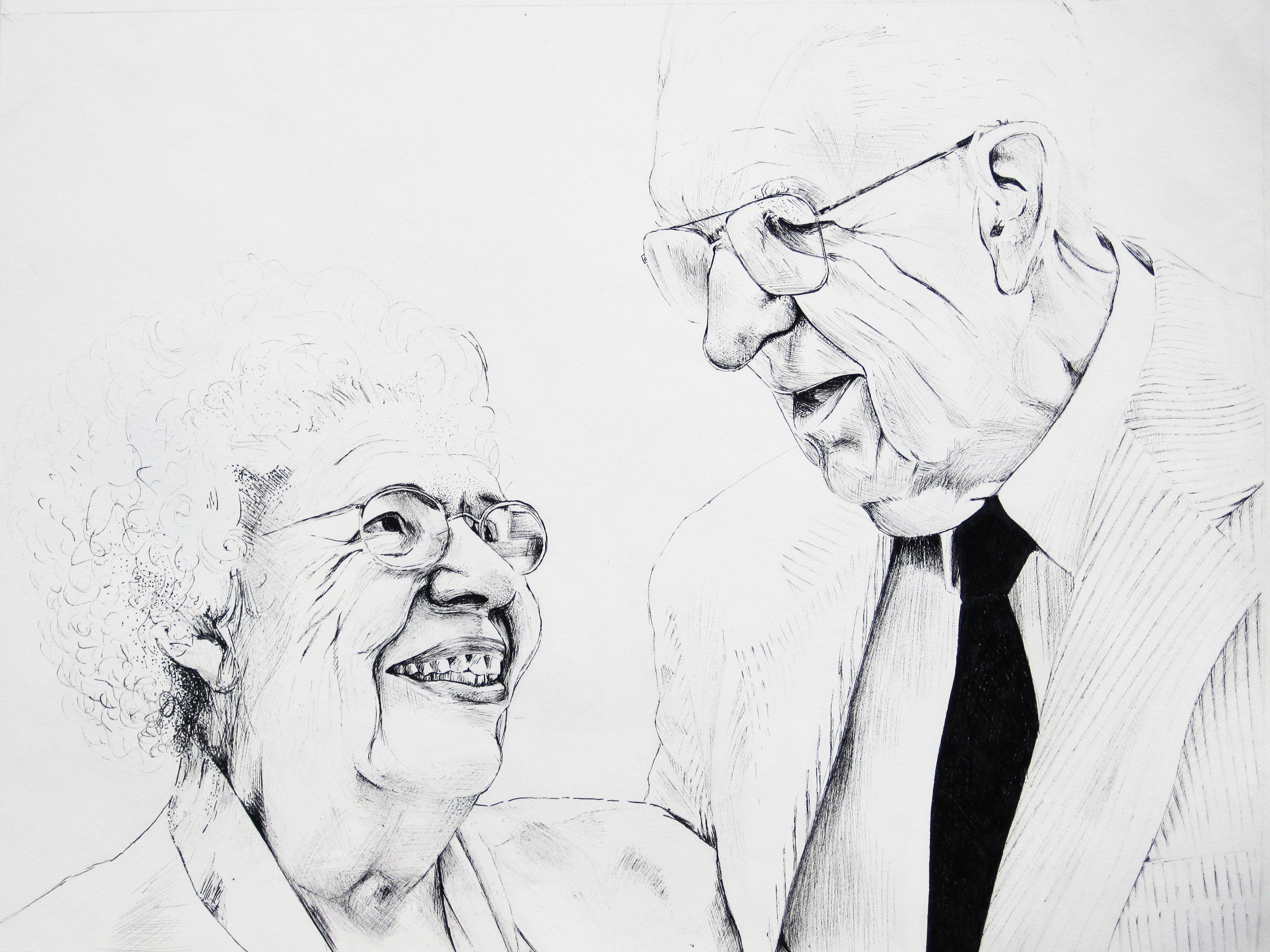 Grandparents Drawing Images