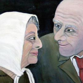 Ghassan Rached: 'Lasting Love 1', 2003 Oil Painting, Love. Artist Description: Oil Painting by Ghassan Rached...