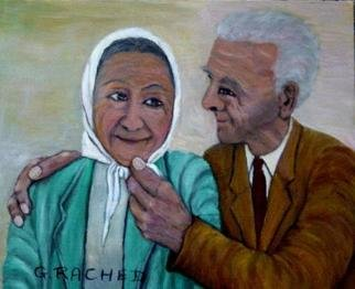 Culture Oil Painting by Ghassan Rached Title: Losting Love 2, created in 2005