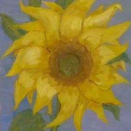 Ghassan Rached Artwork Sunflower 1, 1995 Oil Painting, Floral