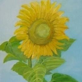 Ghassan Rached: 'Sunflower 2', 2001 Oil Painting, Floral. Artist Description: Oil Painting by Ghassan Rached. One of a series of sunflowers. ...