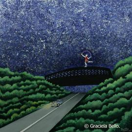 Graciela Bello: 'The bridge', 2007 Acrylic Painting, Magical. Artist Description:     From Magical paintings series.      ...