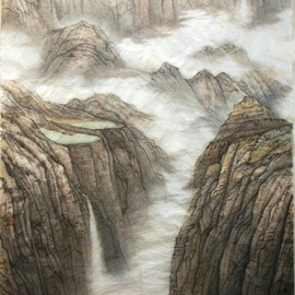Grace Auyeung Artwork Landscape of Guoliang, 2009 Ink Painting, Landscape