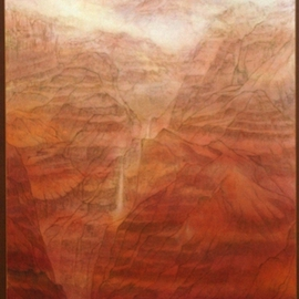Grace Auyeung Artwork Mysterious Canyon, 2007 Ink Painting, Landscape