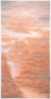 Grace Auyeung: 'canyonscape 1', 2017 Other Painting, Landscape. Artist Description: MENTAL PROTRAYAL OF LANDSCAPE OF CANYONS, THE BEAUTY AND TRANQUILITY  CHINESE INK, WATER COLOUR ON XUAN PAPER...