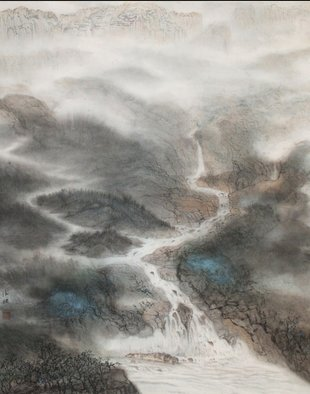 Grace Auyeung: 'land of rivers 1', 2011 Other Painting, Abstract Landscape. Artist Description: LAND OF RIVERS depicts the main substance, the abundance and beauty of Nature on which human existence rely on. ...