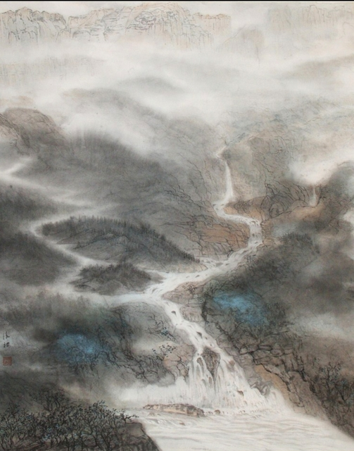 Grace Auyeung  'Land Of Rivers 1', created in 2011, Original Calligraphy.