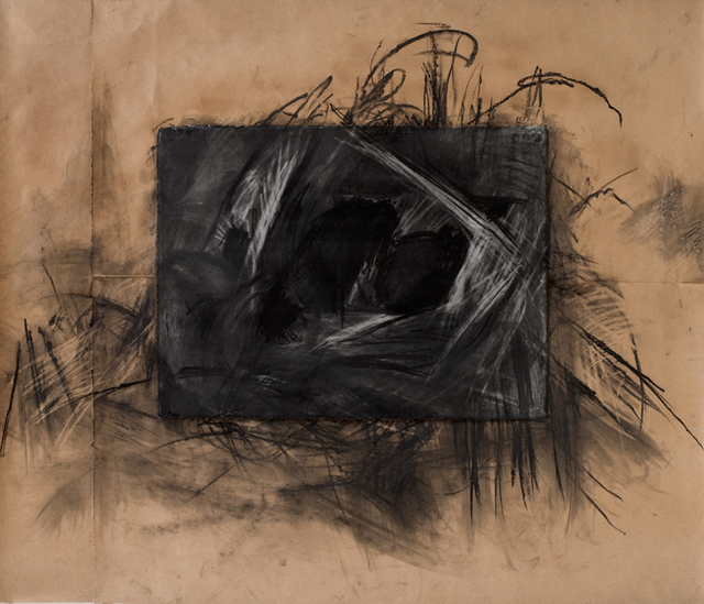 Marcia Freedman  'Connecting Places', created in 2007, Original Drawing Charcoal.