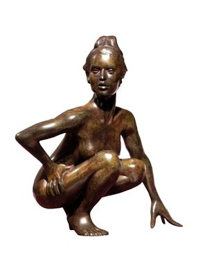 Bronze Sculpture by Frederic Clerc-renaud titled: Enigma, 2010