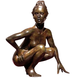 Frederic Clerc-renaud: 'Enigma', 2010 Bronze Sculpture, Figurative. Artist Description:       figurative bronze sculpture with walnut patina    ...