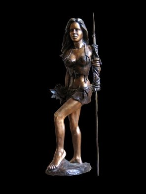 Bronze Sculpture by Frederic Clerc-renaud titled: Jeromine, created in 2010