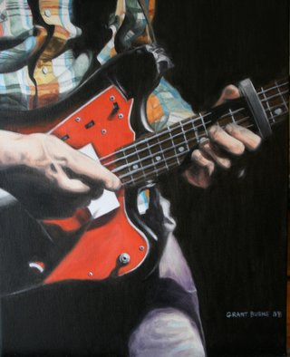 Music Oil Painting by Grant Burke Title: Guitarist Jamming, created in 2008
