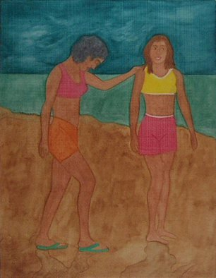 Gary Richard D.: 'Las Amigas de Puntarenas No3', 2013 Monoprint, Other. Artist Description:     spring, hope                         ...