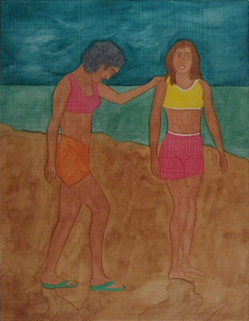 Gary Richard D.  'Las Amigas De Puntarenas No3', created in 2013, Original Printmaking Monoprint.