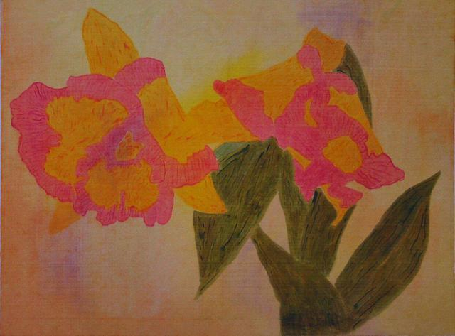 Gary Richard D.  'Las Flores No2', created in 2012, Original Printmaking Monoprint.