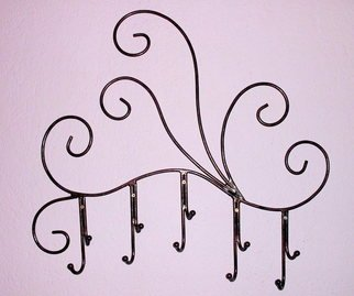 Stavros Tosios Artwork Iron Coat Hooks, 2013 Metalsmith, Abstract