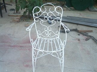 Stavros Tosios: 'Metal chair for the Garden', 2008 Metalsmith, Abstract Landscape.  Metal chair i can make it in many colors ...