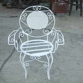 Metal chair for the Garden