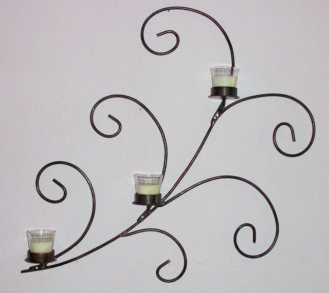 Stavros Tosios Artwork: Metal Candle Holder Wall Art | Original ...