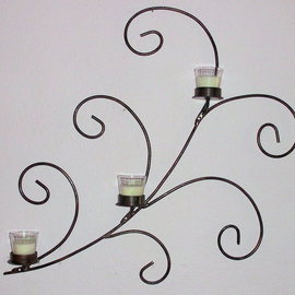 metal candle holder wall art By Stavros Tosios