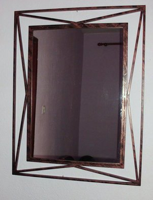 Stavros Tosios: 'wall mirror', 2013 Metalsmith, Abstract.  wall mirror ...