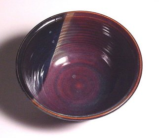 Cathy Green Artwork Stoneware Pottery Bowl  Amber and Deep Blue, 2006 Pottery, undecided