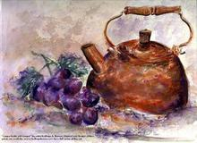 - artwork Copper_Kettle_with_Grapes-1248891016.jpg - 2005, Watercolor, Still Life