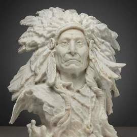 the indian chief red cloud  By Grigorii Ponomarev