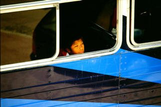Gregory Stringfield: 'Boy on Bus', 2003 Color Photograph, Children.