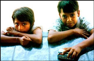Gregory Stringfield: 'Brothers', 2002 Color Photograph, Children.